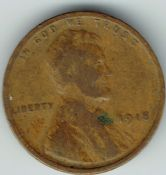United States, Wheat Cent 1918, AF, WA1285